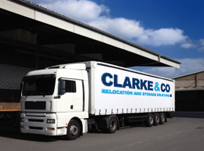 Clarke and Co truck for home and commercial moves - Clarke and Co London Removals Company